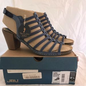 JBU by Jambu Denim Gladiator Sandals Sz 9.5